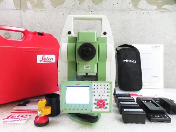 Leica(ライカ)TS15 自動視準 トータルステーション / GEB221 7.4V バッテリー 5個 充電器 管理工具0808TTA 2019年 校正済