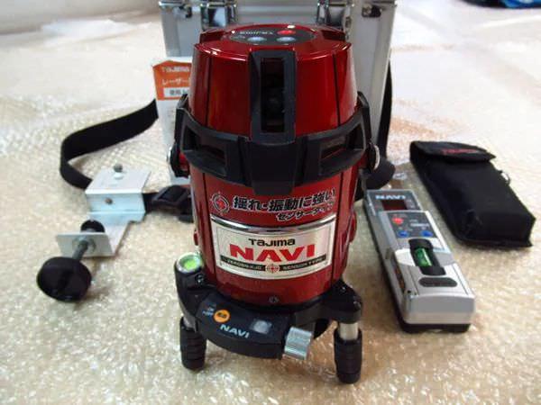 タジマ レーザー墨出し器 ZEROSN-KJC NAVI 高輝度センサー フルライン縦4本 水平360度 受光器付き